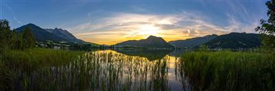 Sonnenuntergang über dem Walchsee