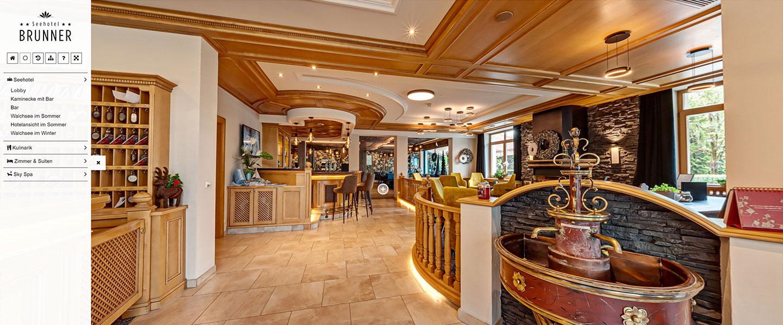 Hotelbar und Sitzecke vom Seehotel Brunner